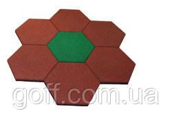 Плитка для детской площадки шестиугольная