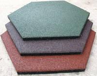 Резиновая шестиугольная плитка для детской площадки