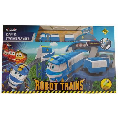Игровой набор Silverlit Robot Trains Станция Кея (80170)