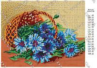 Схема для вышивки бисером 3186. ВАСИЛЬКИ