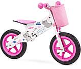 Велобег - беговел Caretero (Toyz) Zap деревянный колеса надувные 12 дюймов, фото 3