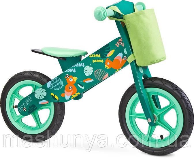Велобег - беговел Caretero (Toyz) Zap деревянный колеса надувные 12 дюймов