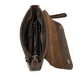 Чоловіча сумка шкіряна барсетка, Барсетка чоловіча шкіряна, фото 2