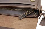 Чоловіча сумка шкіряна барсетка, Барсетка чоловіча шкіряна, фото 5