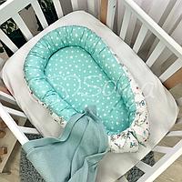 """Позиционер (гнездышко, кокон) Babynest """"Baby Design""""расцветки в ассортименте Baby мята"""