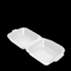 Ланч-бокс БЕЛЫЙ НР-6 ЯЩИК 250шт (для сендвича) 150x152x60мм