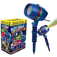 Новогодний проектор лазерный Star Shower Laser Light Уличный на фасад дома (Реальные фото)