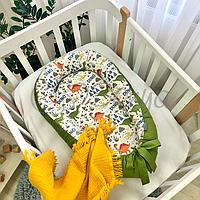 """Позиционер (гнездышко, кокон) Babynest """"Baby Design""""расцветки в ассортименте Дино олива"""