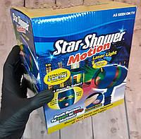 Лазерный проектор Star Shower Motion установка для улицы и на фасад дома Новогодние освещение (Живые фото)