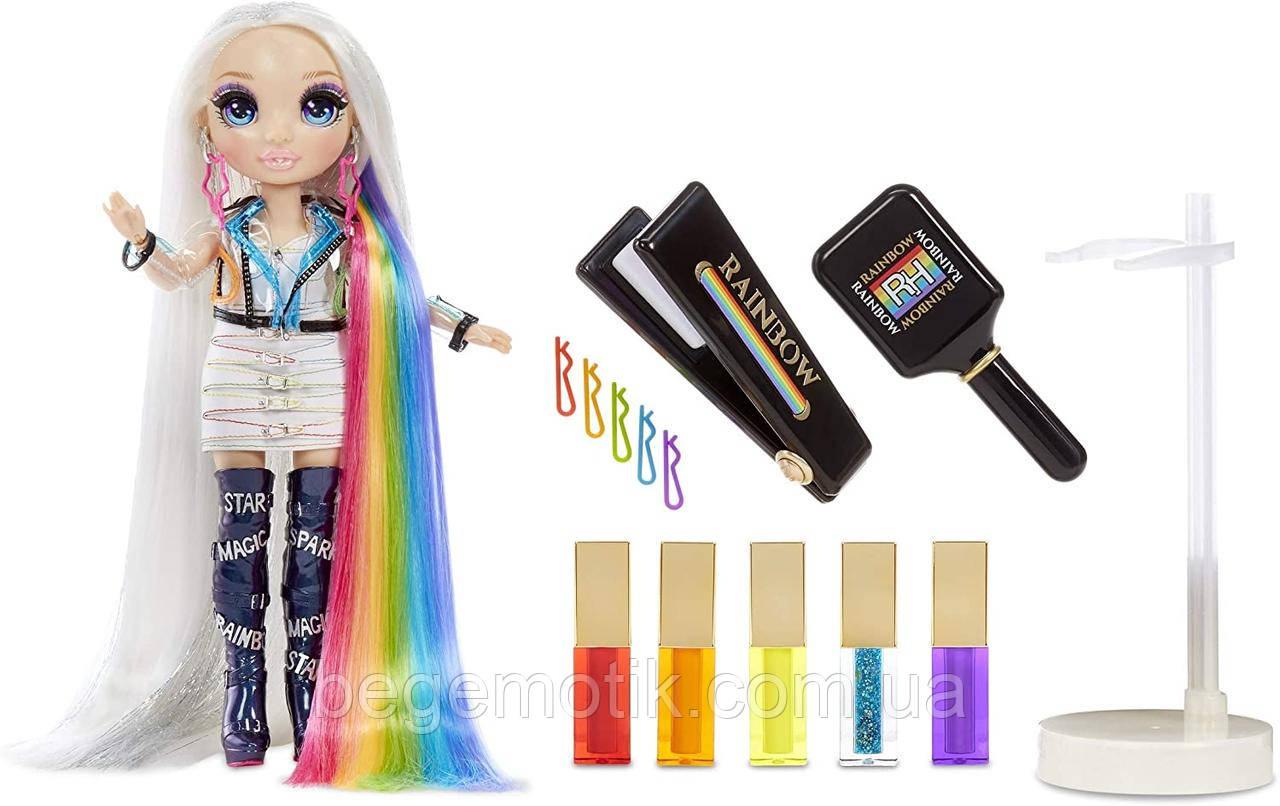 Рейнбоу Хай набор с Куклой Стильная прическа 5 в 1 (Амайя Рейн) Rainbow High Fashion Studio Avery Styles