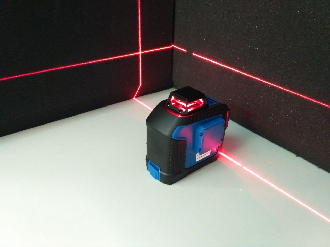 Лазерний рівень нівелір 360 градусів + вертикальна лінія, червоний промінь ORIENT 1V360H-R
