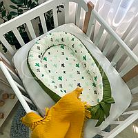 """Позиционер (гнездышко, кокон) Babynest """"Baby Design""""расцветки в ассортименте Кактусы"""