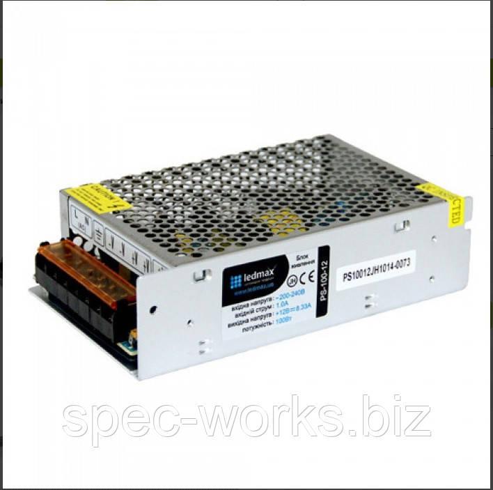 БП 12В 100Вт LEDMAX PS-100-12