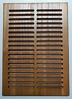 Вентиляционная решетка деревянная 250х180, дерево ДУБ