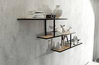 Навесная - Настенная Полка в стиле LOFT (Wall Shelf - 31)