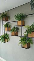 Навесная - Настенная Полка для цветов в стиле LOFT (Wall Shelf - 28)