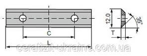 Ніж змінний тб/спл HW 40,0х12,0х1,5 KCR02+ Ceratizit (Люксембург)