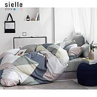 Постельное белье из сатина, Геометрия, треугольники. Полуторный комплект постельного белья.