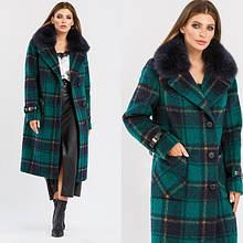 Зимові пальта жіночі з кашеміру, вовни, твіду