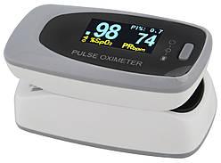 Пульсометр оксиметр на палец (пульсоксиметр) Contec CMS50D2 OLED Grey