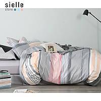 Постельное белье из сатина, Эмили, треугольники. Полуторный комплект постельного белья.