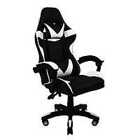 Кресло геймерское раскладное B 810 с системой качания TILT геймерский стул компьютерный с 2 подушками белый