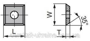 12,0х12,0х1,5 KCR08 ніж змінний тб/спл