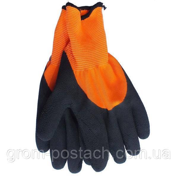 Рукавички з латексним покриттям WERK WE2133H (чорно-помаранчеві)