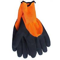Перчатки с латексным покрытием WERK WE2133H (черно-оранжевые)
