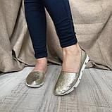 Балетки кожаные AVK Bella, Золотой, 36, фото 2