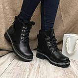 Ботинки кожаные AVK 07136/зм, Черный, 36, фото 3