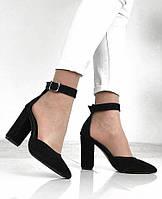 Туфли замшевые AVK 9535/дел, Черный, 36