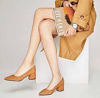 Туфли замшевые AVK 6057, Рыжий, 36