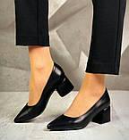 Туфли кожаные AVK 6057, Черный, 36, фото 3