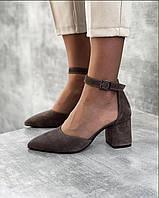 Туфли замшевые Ornella, Капучино, 36
