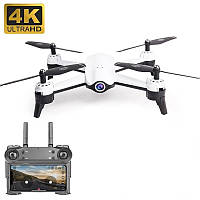 Дрон S165 2 камеры Ultra HD 4K + 720p квадрокоптер 20 минут полёта черный стабилизация белый