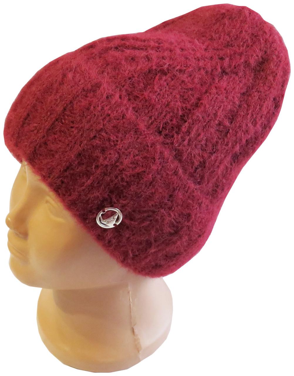 Зимова шапка для жінок та дівчат Альпака, бордова