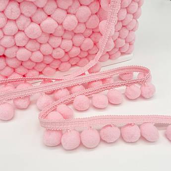 Тесьма с помпонами 20 мм розовые