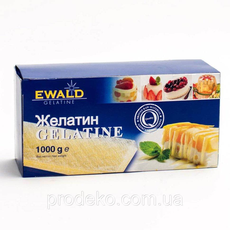 Желатин листовой Ewald Tinanium 120 Bloom, Германия 1 кг