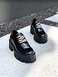 Туфли лаковые чёрные женские, фото 2