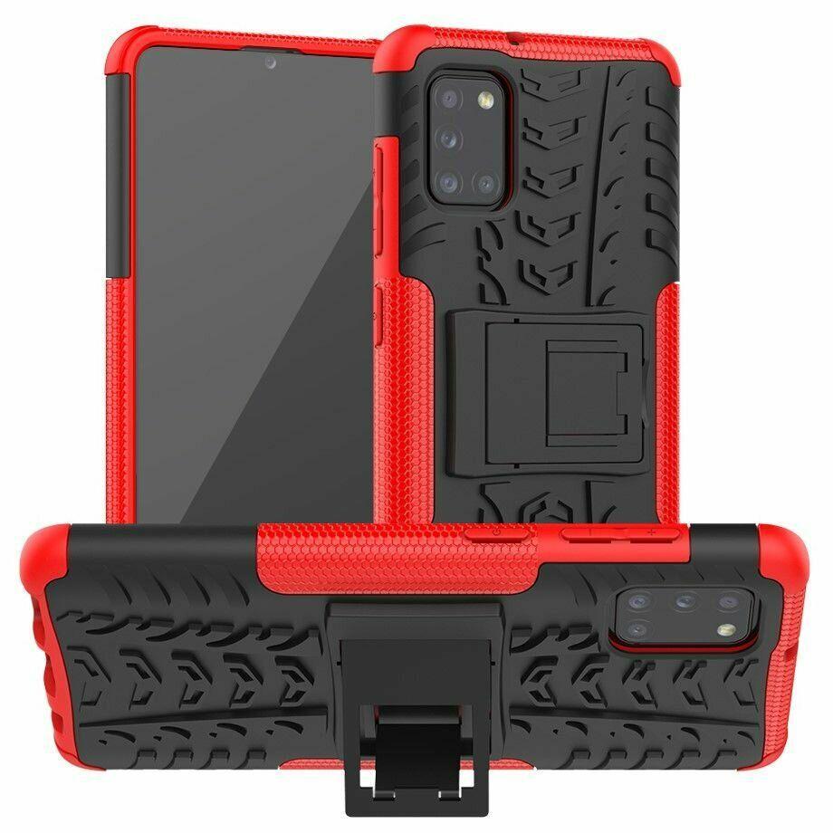 Чохол Fiji Protect для Samsung Galaxy A31 (A315) протиударний бампер з підставкою червоний