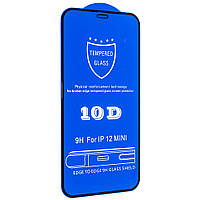 Cтекло 10D для iPhone 12 Mini , black