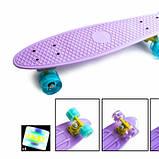Penny Board. Лиловый цвет. Светящиеся колеса., фото 2