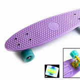 Penny Board. Лиловый цвет. Светящиеся колеса., фото 3