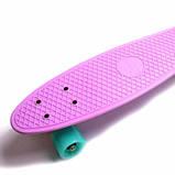 Penny Board. Лиловый цвет. Светящиеся колеса., фото 4