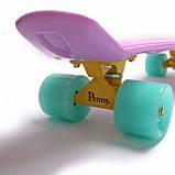 Penny Board. Лиловый цвет. Светящиеся колеса., фото 6