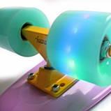 Penny Board. Лиловый цвет. Светящиеся колеса., фото 7