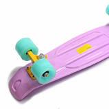 Penny Board. Лиловый цвет. Светящиеся колеса., фото 8