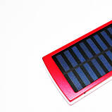 Power Bank Solar 30000 mAh c солнечной батареей Big Красный, фото 3