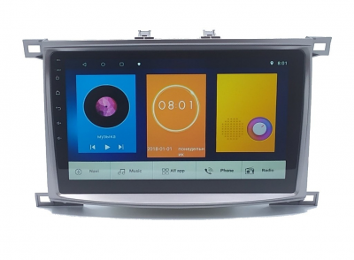 Автомагнитола штатная Sound Box для Toyota Land Cruiser 100 2005 магнитола Экран 10 Can Android 10.1